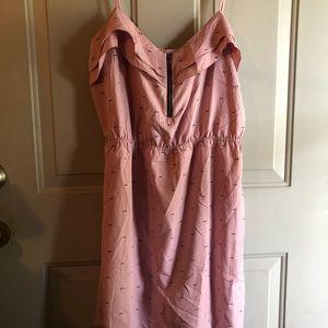 Adorable Roxy pink with black bow print mini dress